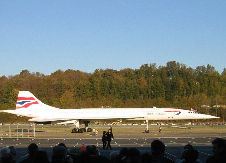 Concorde Arrives in Seattle